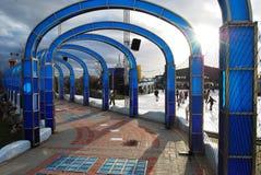 现代的拱廊 库存照片