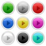 现代的按钮 免版税库存图片