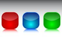 现代的按钮 免版税库存照片