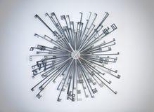 现代的时钟 免版税图库摄影