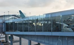 现代的机场 免版税库存照片