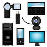 现代的电子设备 库存照片