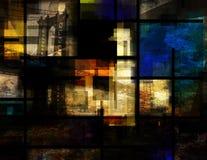 现代的艺术 桥梁曼哈顿 库存例证