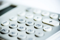现代的计算器 免版税库存照片