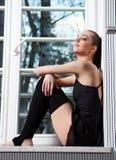 现代的跳芭蕾舞者 图库摄影