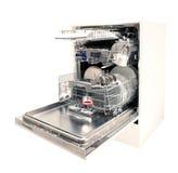 现代的洗碗机开张 免版税库存图片