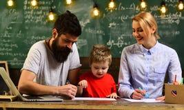 现代研究技术概念,了不起的老师表达感觉领导给学生,讲师谈论 库存照片
