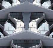 现代第21个大厦世纪的城市 免版税库存照片