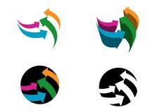 现代箭头的徽标 免版税库存照片