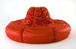 现代红色沙发 免版税库存图片
