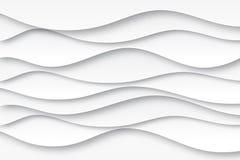 现代纸艺术动画片摘要白色和灰色水波 皇族释放例证