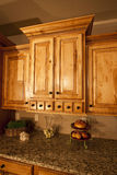 现代细木家具的厨房 库存照片