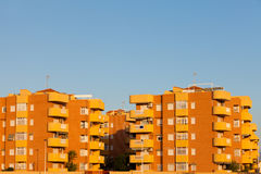 现代结构公寓部件在西班牙 库存照片