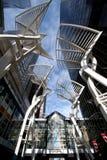 现代结构在城市 免版税库存照片