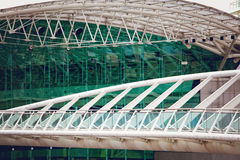 现代结构的详细资料 图库摄影