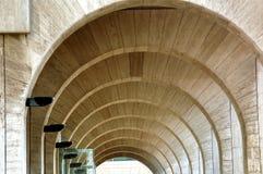 现代结构的cemicercles 免版税库存图片
