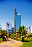 现代结构,阿布扎比,阿拉伯联合酋长国 库存照片