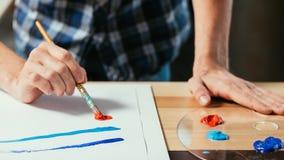 现代美术学校技巧发展绘画 免版税库存图片