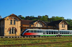 现代老火车站培训 免版税库存照片