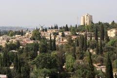 现代耶路撒冷的横向 图库摄影