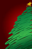 现代背景的圣诞节 免版税库存照片