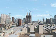 现代背景的城市 免版税库存照片