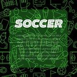 现代背景的设计 足球标志象 库存照片