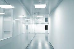 现代背景空的工厂 库存图片