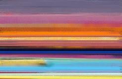 现代艺术与黄色,红颜色的油画 背景的抽象当代艺术 免版税图库摄影
