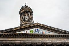 现代艺术大厦细节画廊在街市格拉斯哥Scotla 免版税库存图片