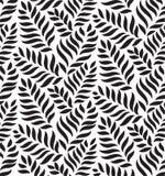 现代花卉无缝的传染媒介样式 下落形状背景 成为原动力时髦的叶子 库存例证