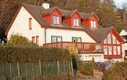 现代苏格兰房子 免版税库存照片