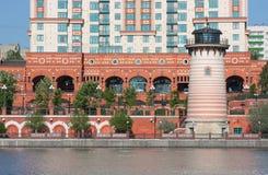 现代莫斯科码头 库存照片