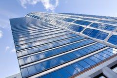 现代蓝色大厦的商业 图库摄影