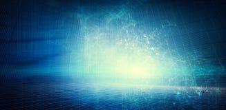 现代蓝色数字技术背景 免版税库存照片