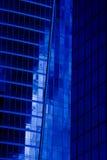 现代蓝色的大厦 免版税库存图片