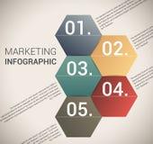 现代虚拟颜色设计模板/infographics 免版税库存照片