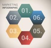 现代虚拟颜色设计模板/infographics 库存照片