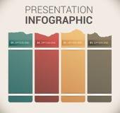 现代虚拟颜色设计模板/infographics 库存图片