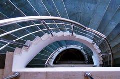 现代螺旋台阶 库存图片
