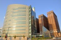 现代街市水牛的大厦 库存图片
