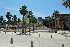 现代街道视图都拉斯,阿尔巴尼亚 免版税库存照片