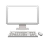 现代计算机的桌面 库存图片