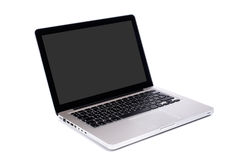 现代计算机的膝上型计算机 免版税库存照片