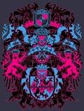 现代设计的纹章 免版税库存照片