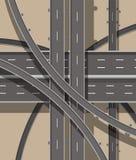 现代路和运输 顶视图 皇族释放例证