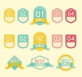 现代软的颜色设计标签 免版税库存照片