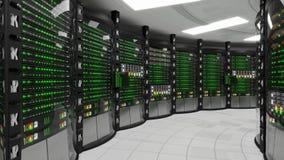 现代运作的服务器室 影视素材
