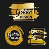 现代金黄刷子设计,传染媒介 免版税库存照片