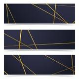 现代金黄线样式当代minimalistic飞行物colle 免版税图库摄影